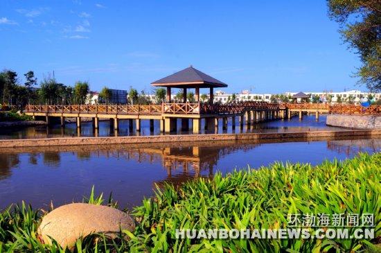 作为现代滨海新城的重点工程之一,唐山市乐亭县古滦河生态公园和生态